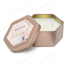 Rose Gold Hexagon Candle With Pink Marble - Semi-Open View