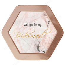 Rose Gold Hexagon Candle With Pink Marble - Top View