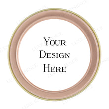Rose Gold Round Tin With Your Design - Top View
