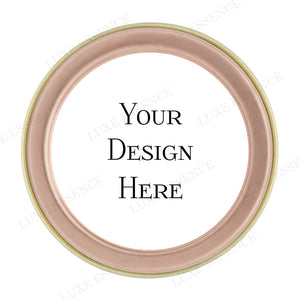 Rose Gold Round Tin With Your Design - Top View || Rose Gold