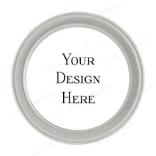 Silver Round Tin With Your Design - Top View