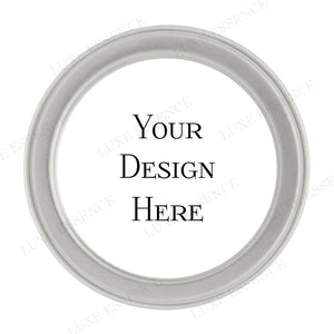 Silver Round Tin With Your Design - Top View || Silver