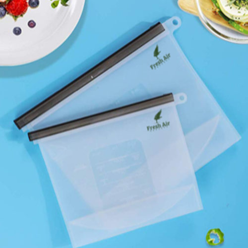 Silicone Resealable Food Storage Bags