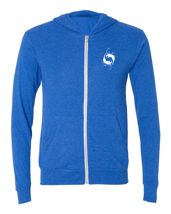 Spotted Eagles Light Zip Hoodie - prawnoapparel.com