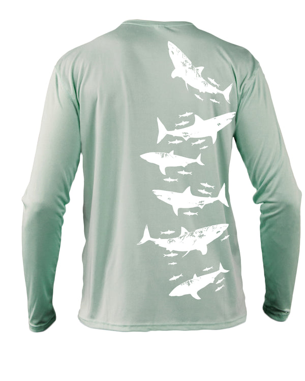 White Shark Recycled Plastic Bottle Beach & Boat Shirt