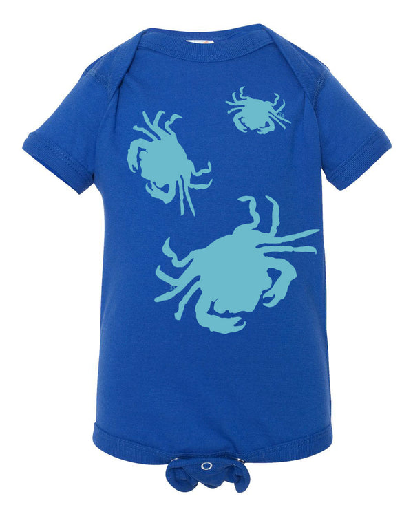 Crabs Short Sleeve Onesie - prawnoapparel.com