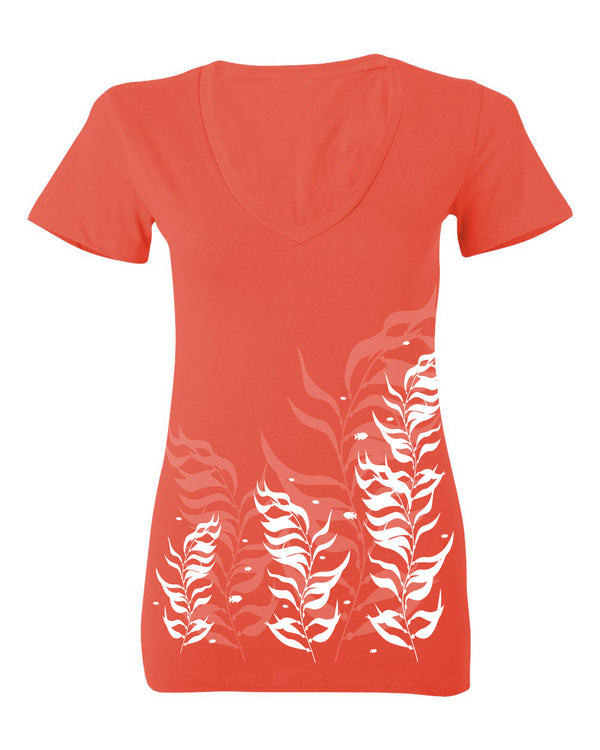 Kelp Forest Cotton Deep V