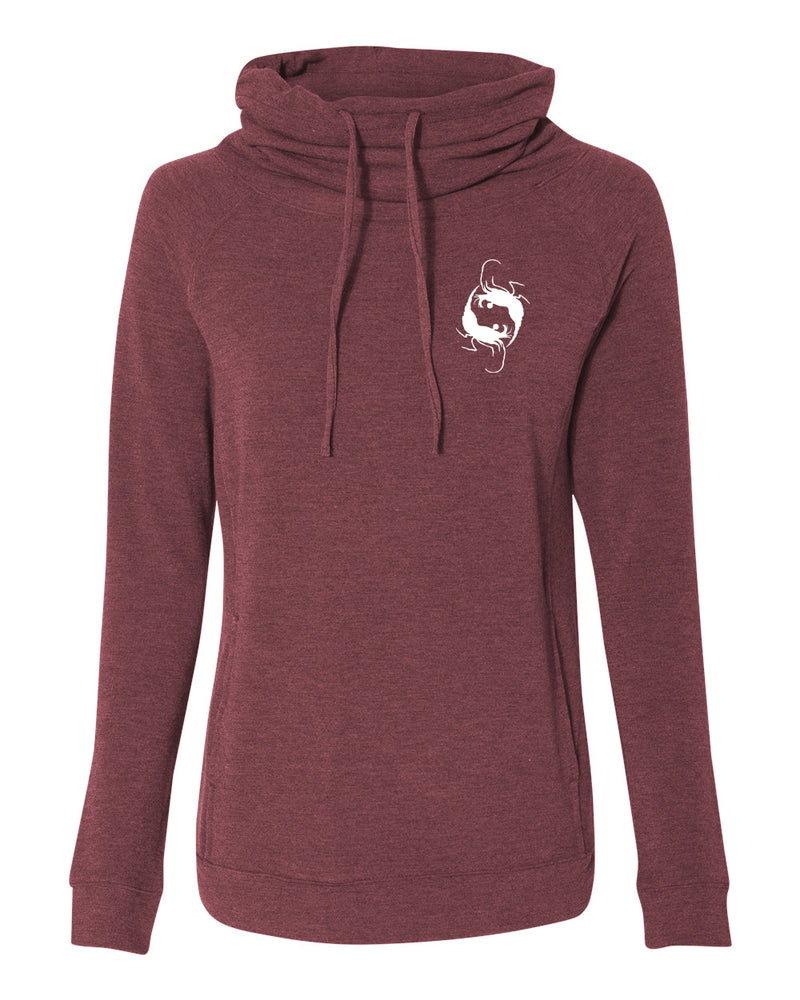 Bull Shark Cowl Neck Fleece Sweatshirt