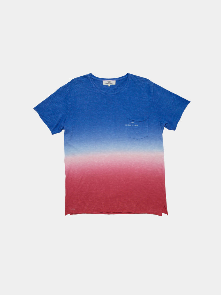 T-SHIRT GRADIENT BLUE & CORAL
