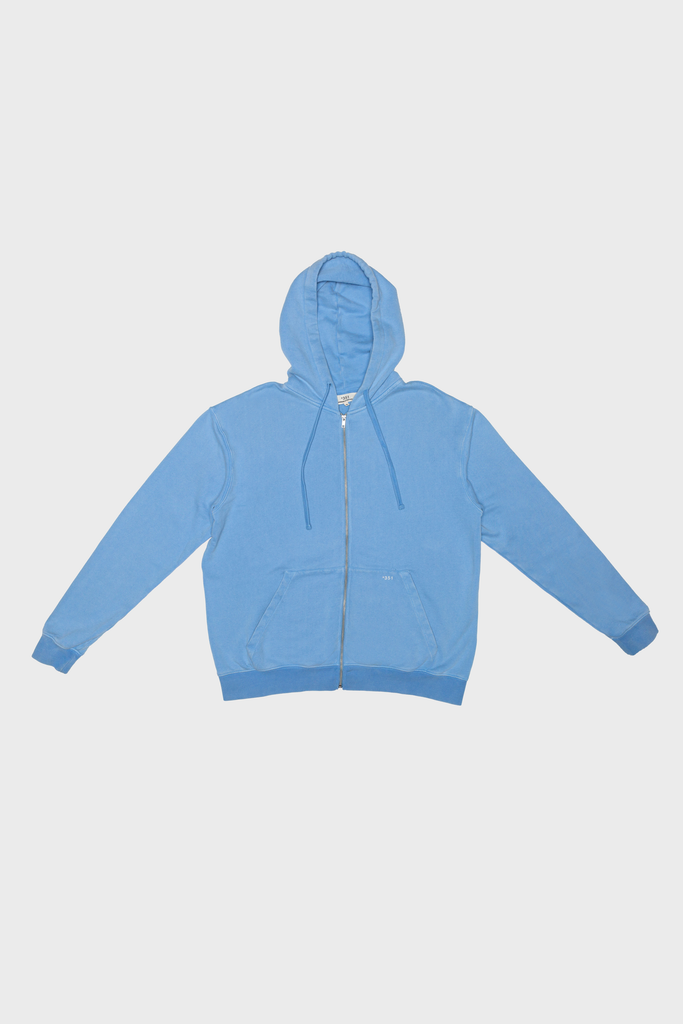 HOODIE ZIPPER FADED BLUE SKY