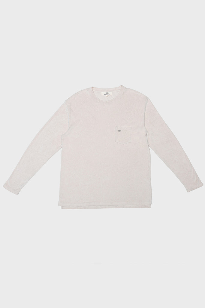 LONG SLEEVE TERRY CREAM