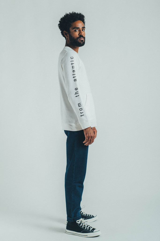 SWEATSHIRT FROM THE ATLANTIC OFF-WHITE & GRAPHITE