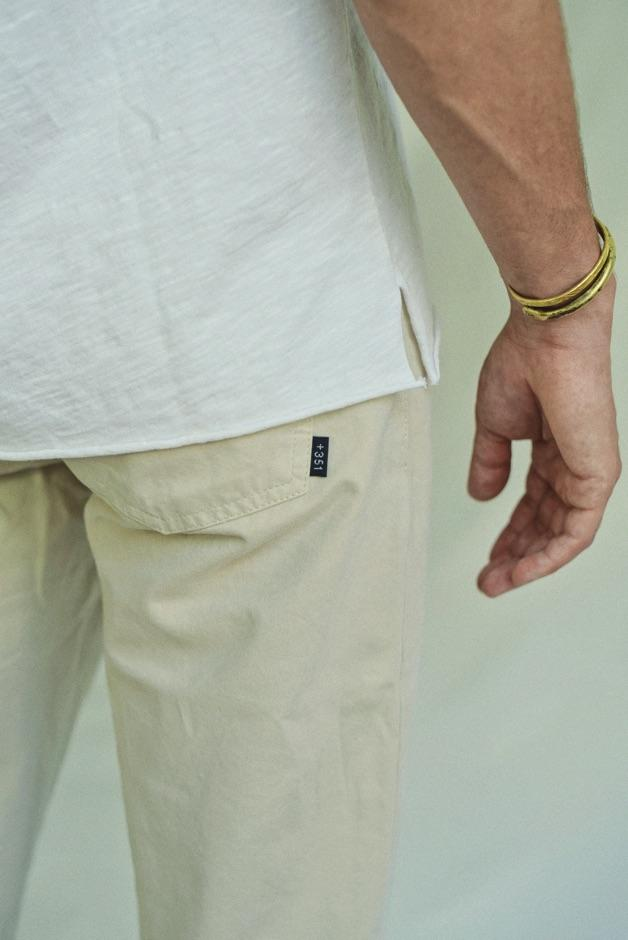 BEIGE LIGHT TWILL PANTS