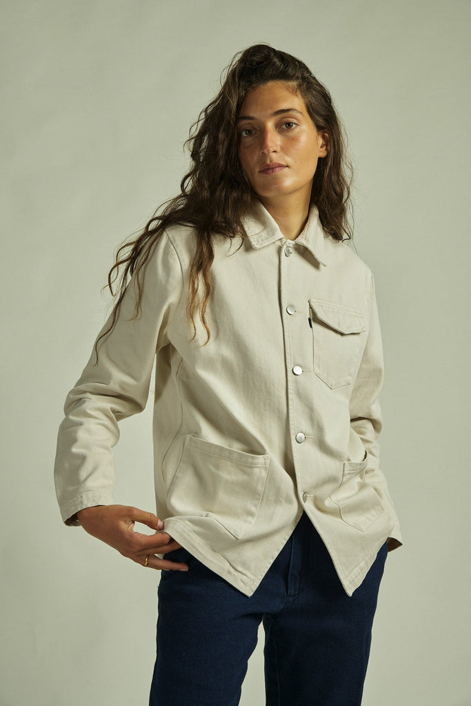 MILITAR JACKET CREAM CANVAS