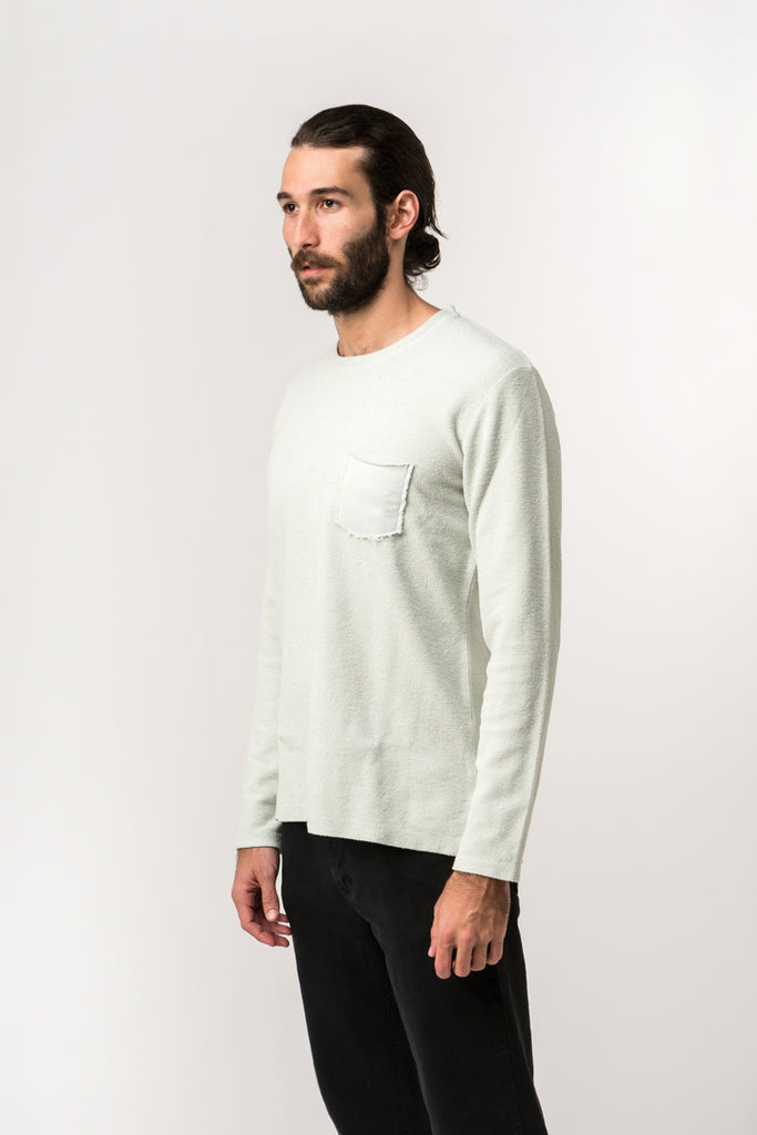SWEATSHIRT ESSENTIAL GREENGREY
