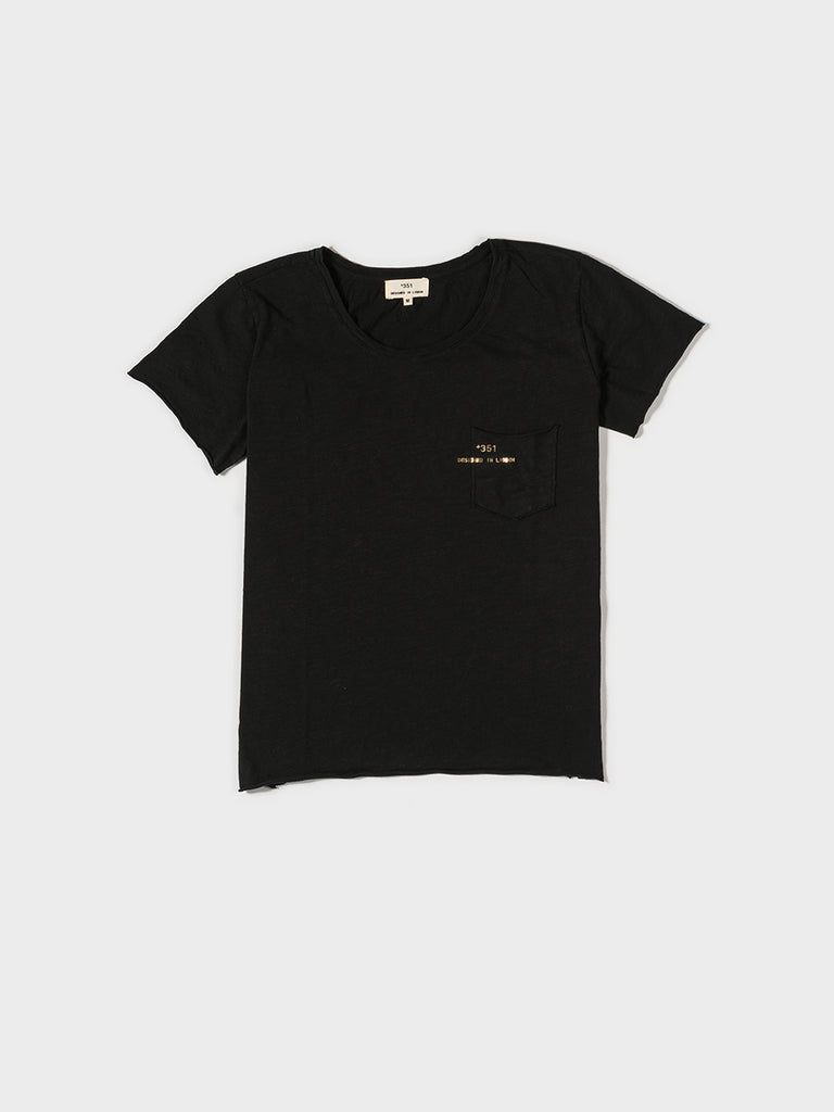 T-SHIRT WOMAN ESSENTIAL BLACK & GOLD