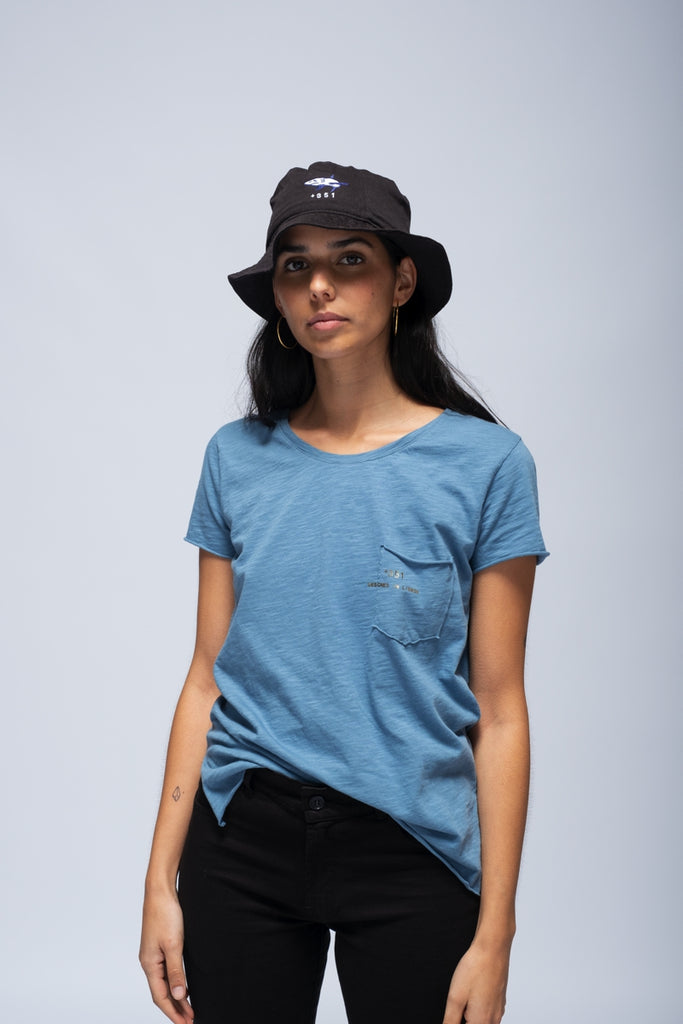 T-SHIRT ESSENCIAL WOMAN BLUE DENIM&GOLD