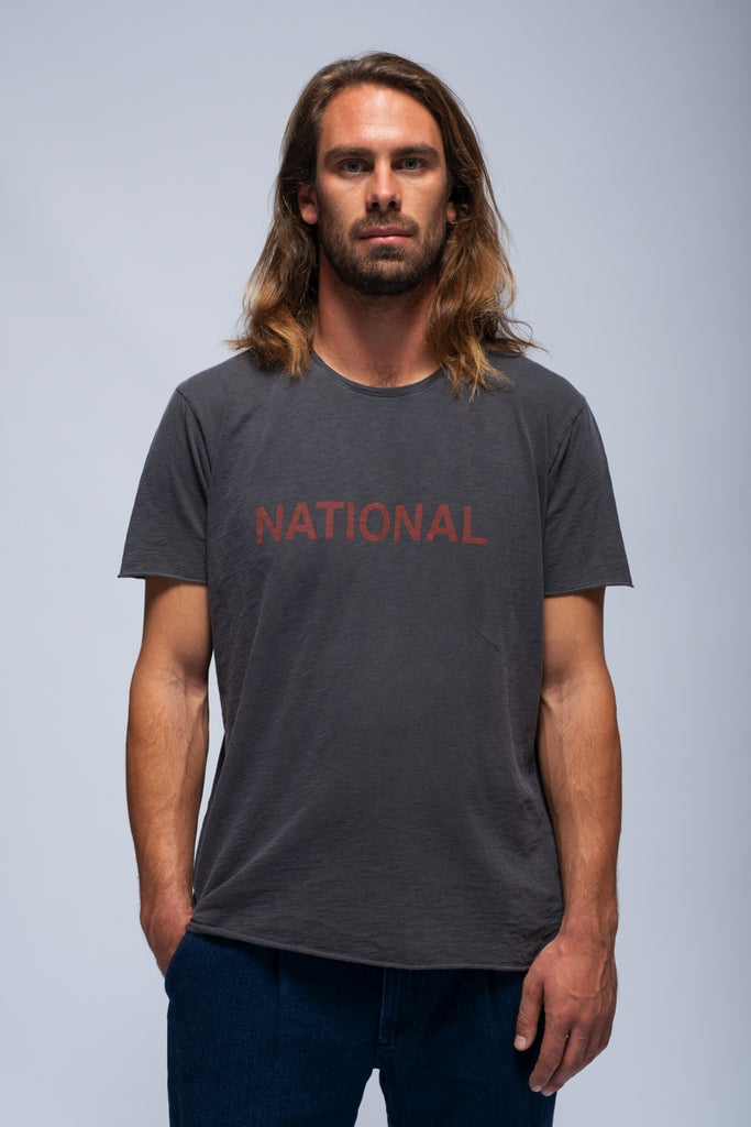 T-SHIRT NATIONAL GRAPHITE FADE OUT
