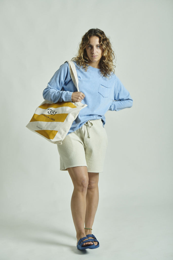 MUSTARD STRIPES TOTE-BAG