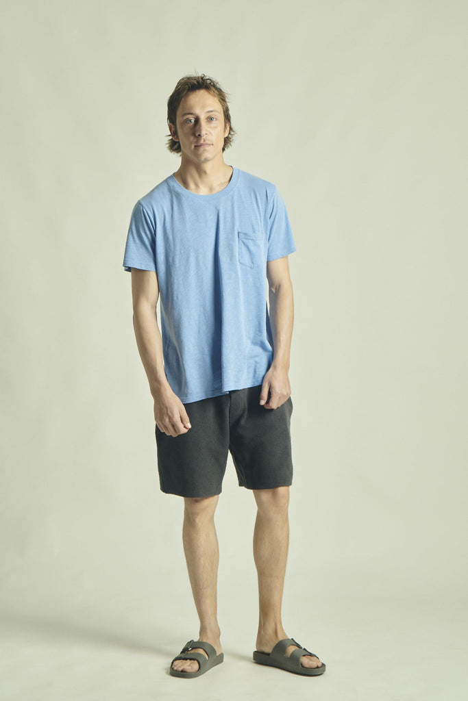 T-SHIRT RIB +351 LOOP FADED BLUE SKY