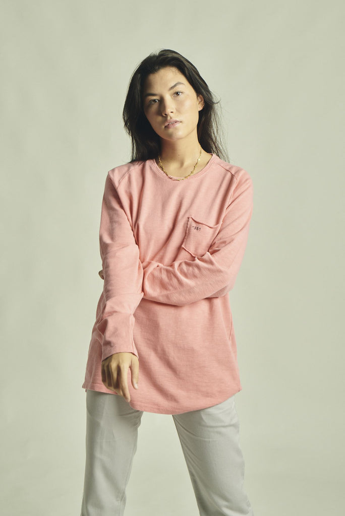 LONG SLEEVE ESSENTIAL FADED CORAL