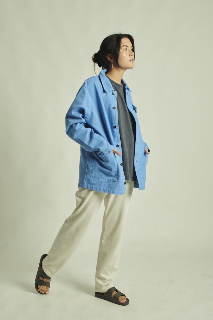 MILITAR JACKET BLUE SKY CANVAS