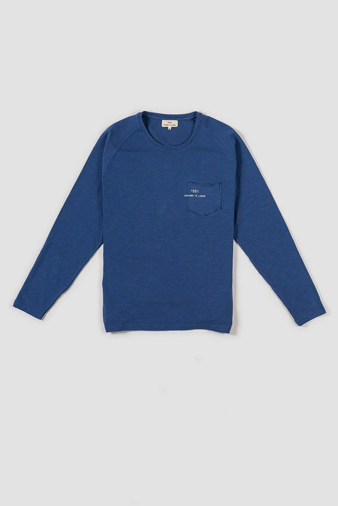 LONG SLEEVE ESSENTIAL BRIGHT BLUE