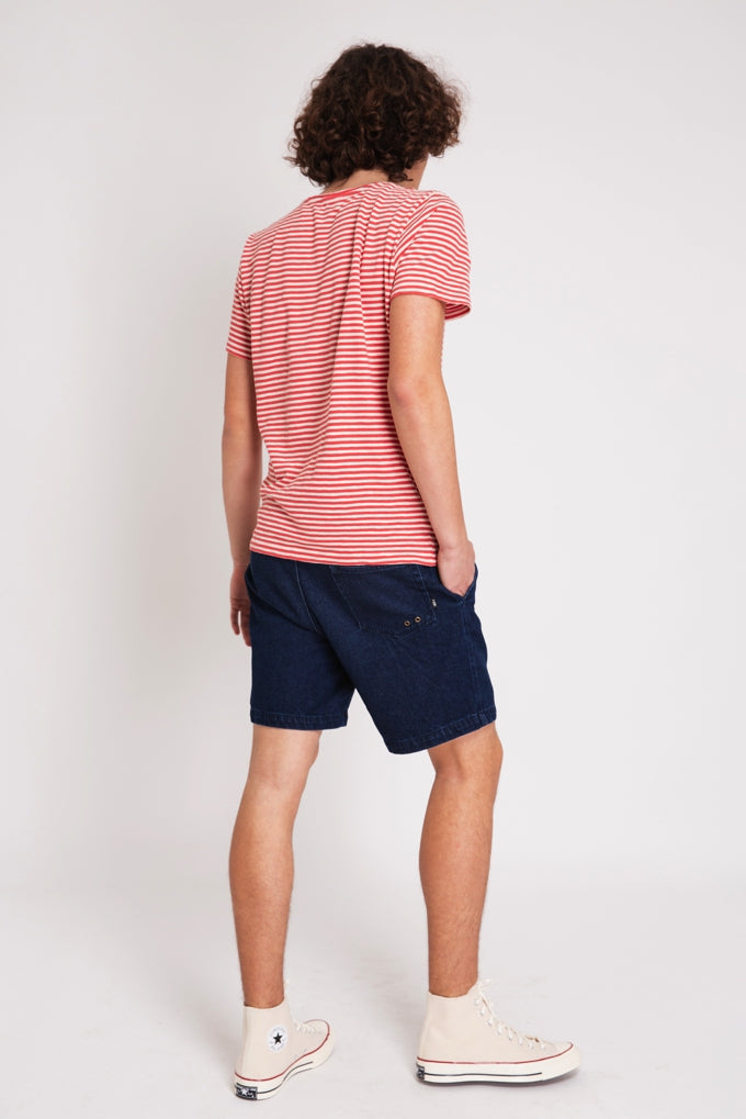 T-SHIRT STRIPES CORAL & CRU