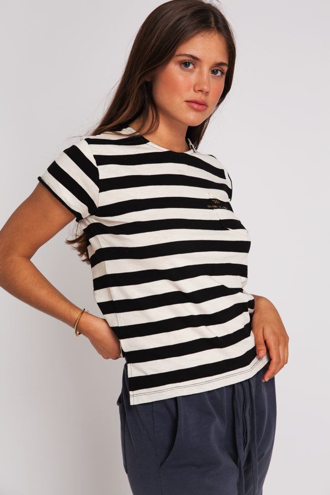 T-SHIRT ESSENCIAL WOMAN STRIPES & GOLD