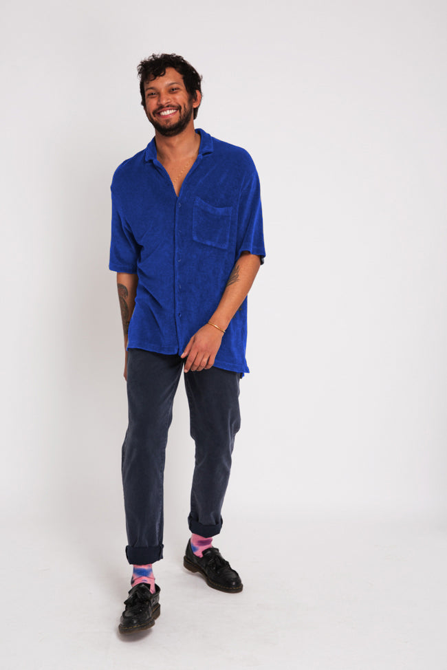 SHIRT TOWELLING BLUE