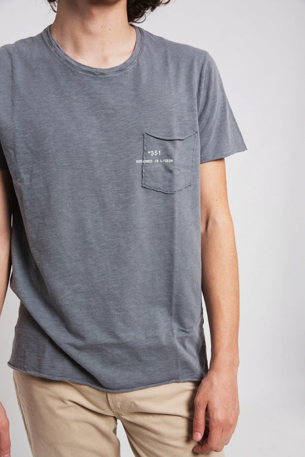 T-SHIRT ESSENTIAL STONED GREY