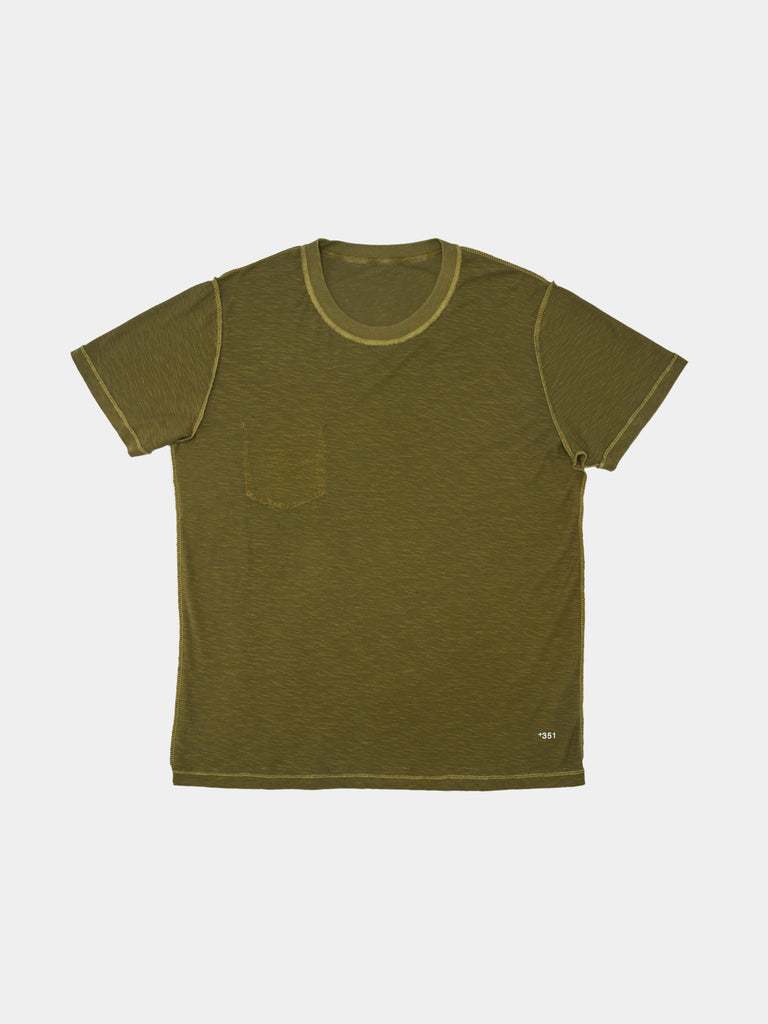 T-SHIRT RIB DOUBLE MILITAR GREEN