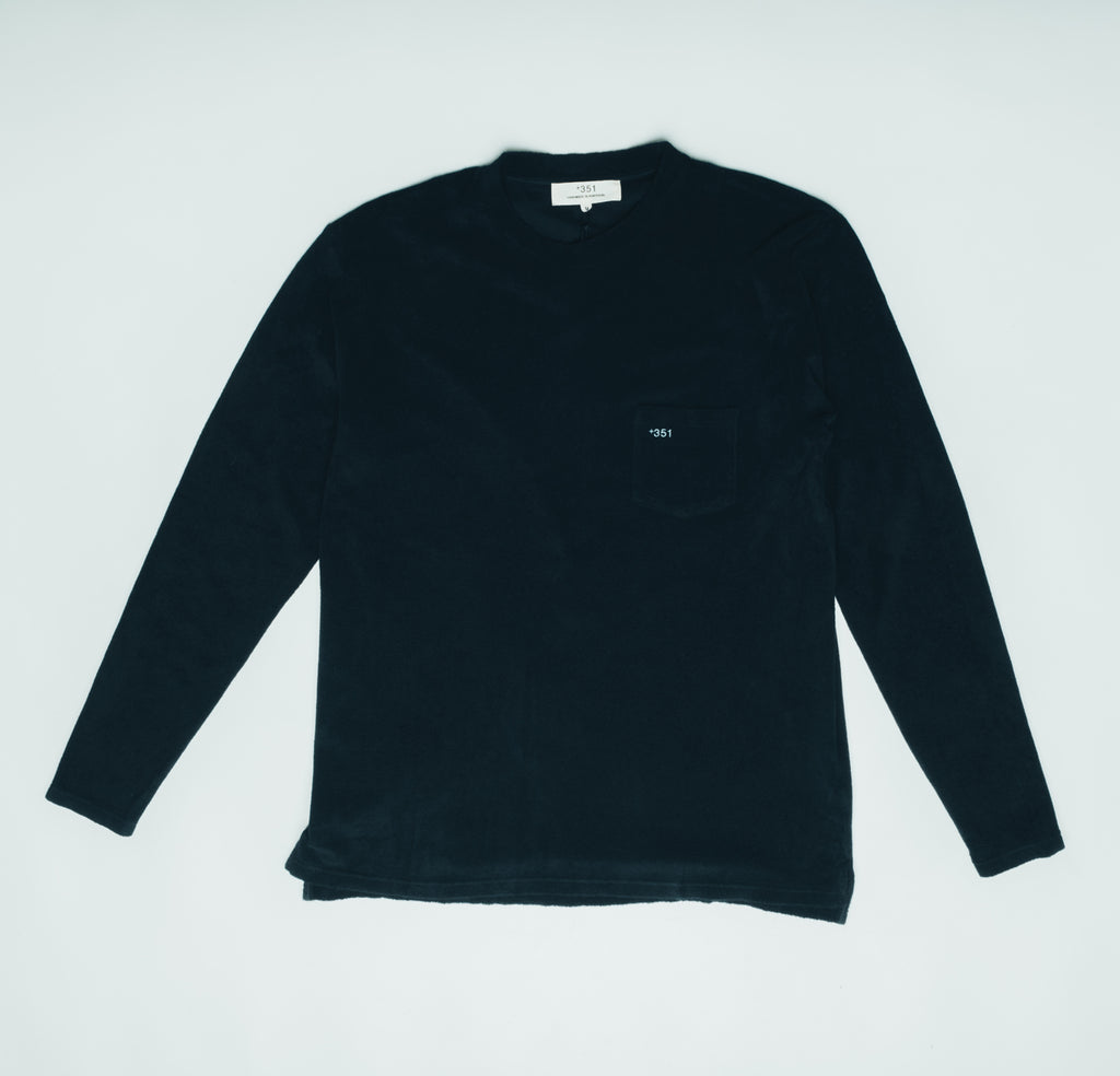 LONG SLEEVE TERRY DARK GRAPHITE