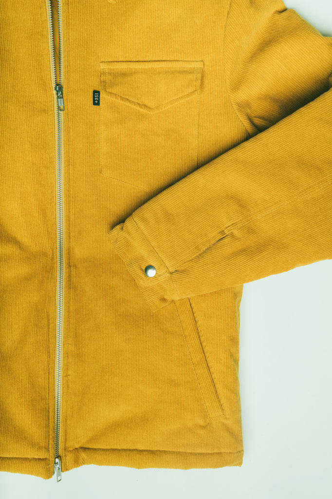 JACKET ZIPPER CORDUROY MUSTARD