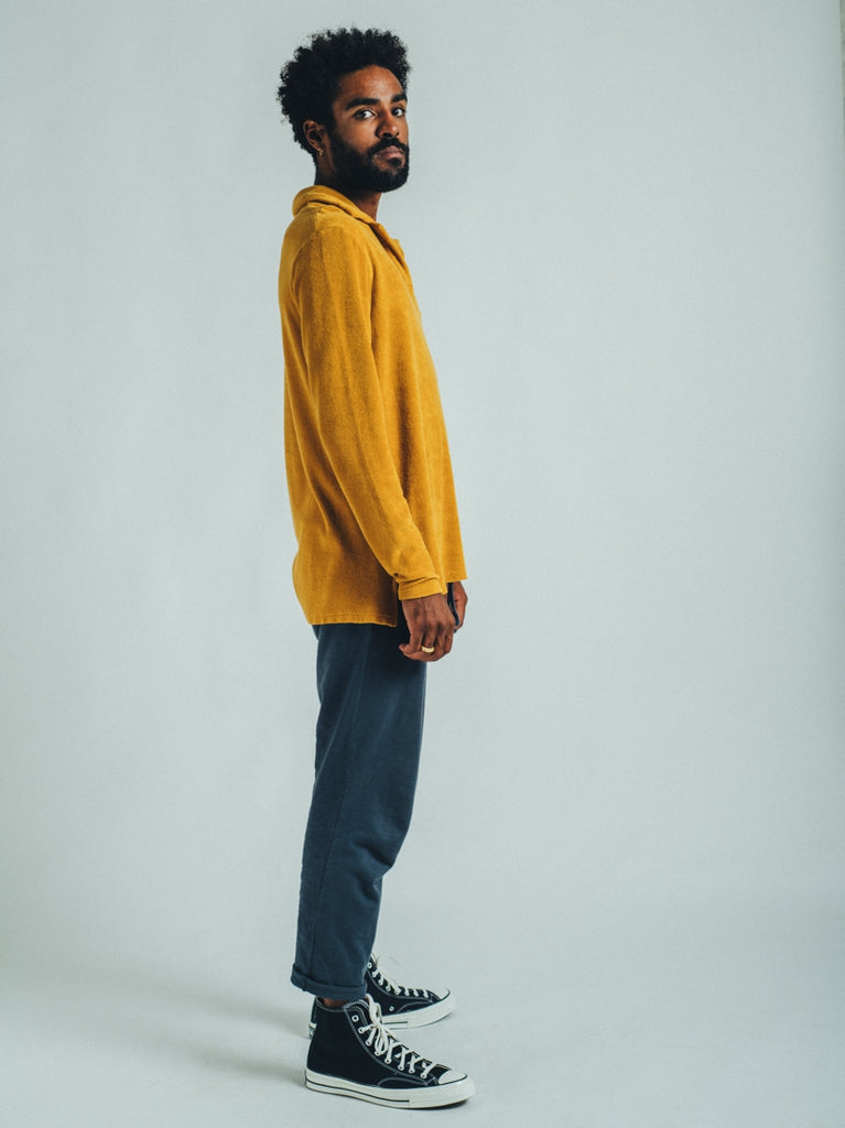 POLO LONG SLEEVE TERRY MUSTARD