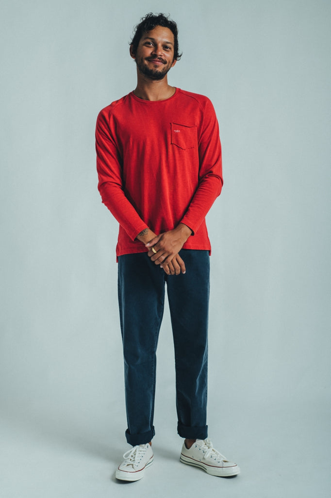 LONG SLEEVE ESSENTIAL BRIGHT RED