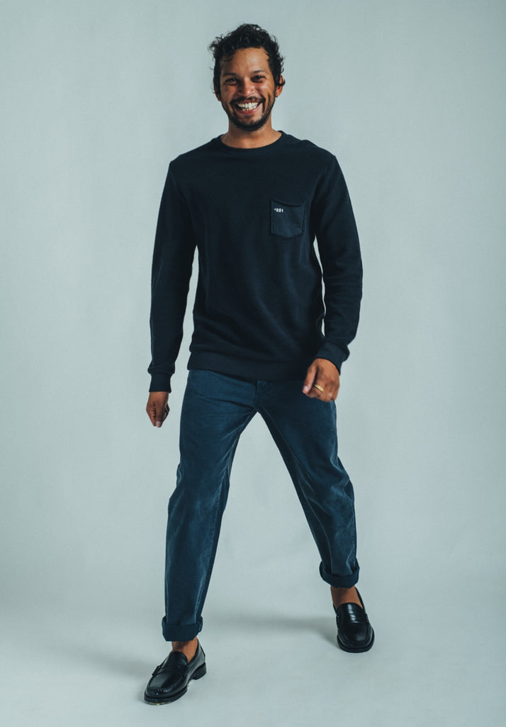 SWEATSHIRT COZY ESSENTIAL DARK GRAPHITE