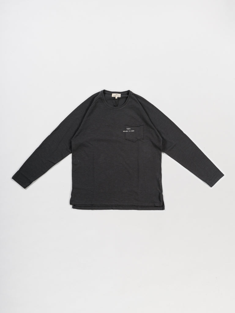 LONG SLEEVE ESSENTIAL GRAPHITE FADE OUT