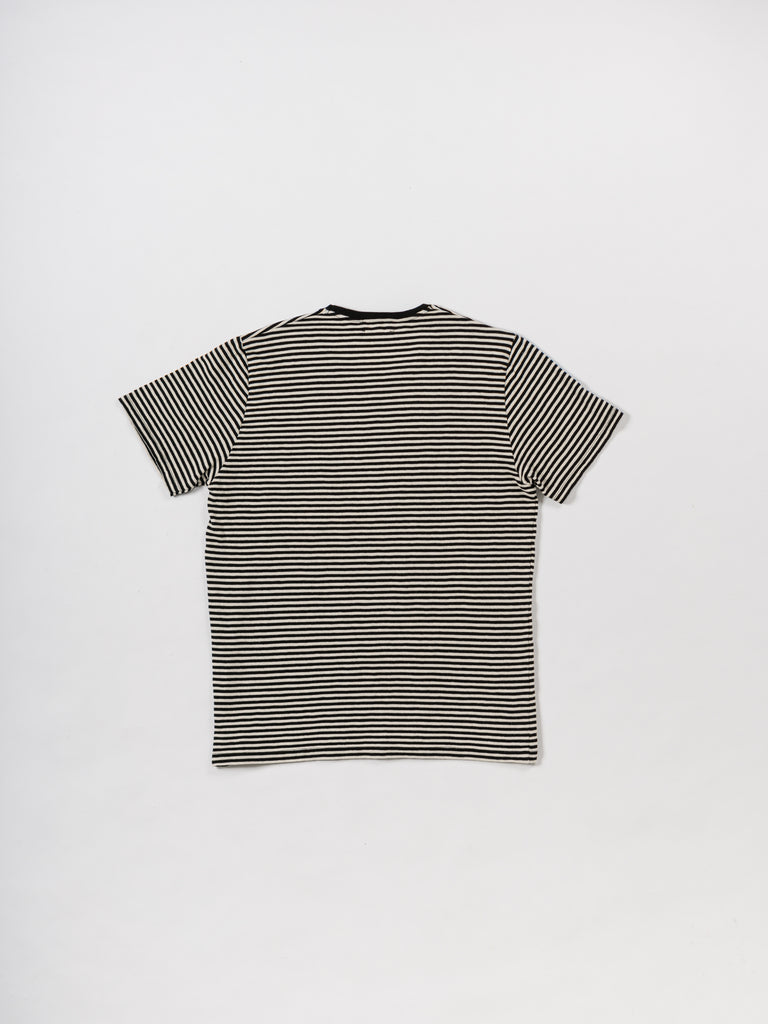 T-SHIRT STRIPES BLACK & CRU