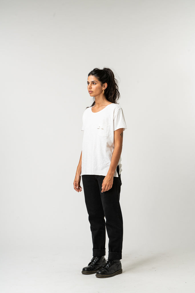 T-SHIRT WOMAN ESSENTIAL WHITE & GOLD