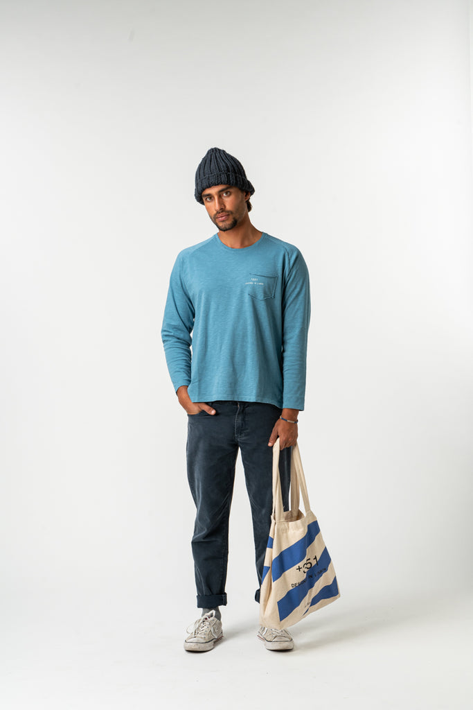 LONG SLEEVE ESSENTIAL BLUE DENIM