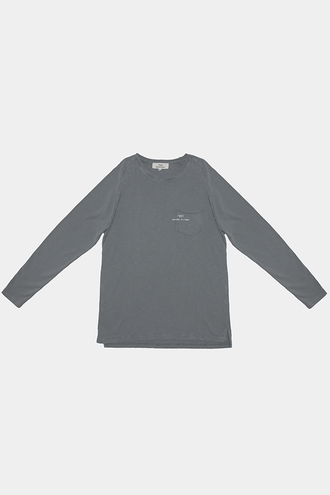 LONG SLEEVE ESSENTIAL STONED GREY