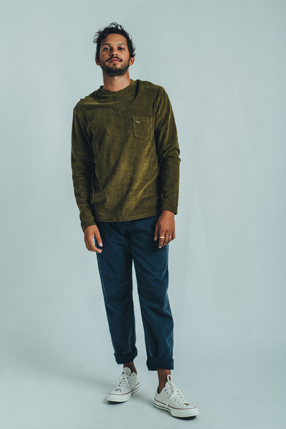 LONG SLEEVE TERRY MILITAR GREEN