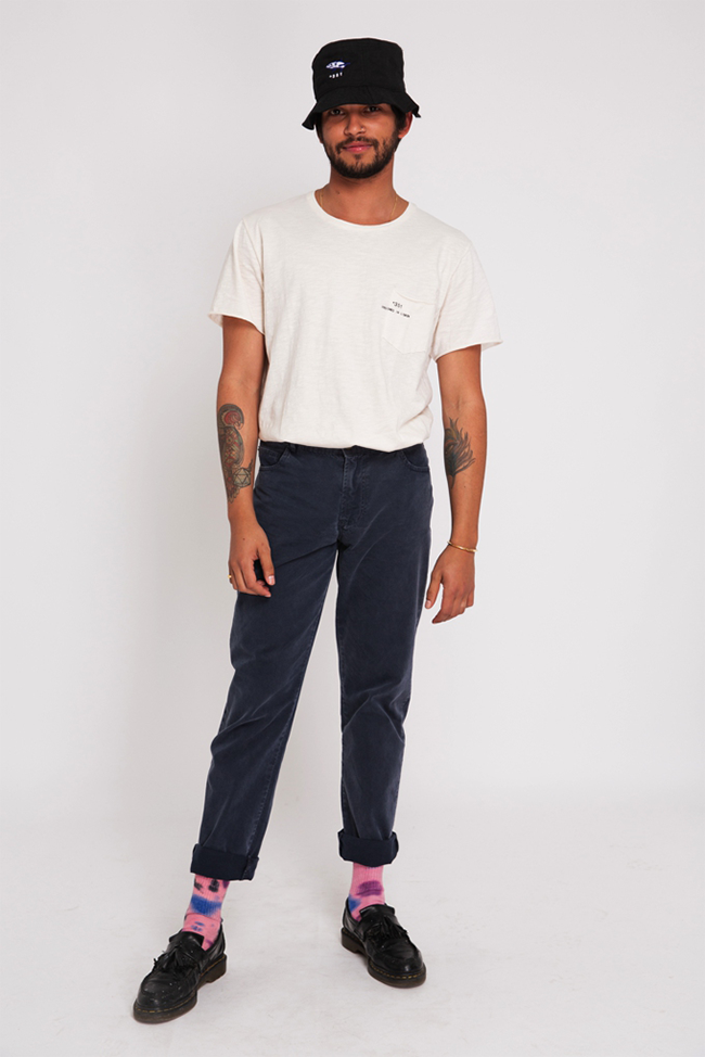 BLUE CHARCOAL LIGHT TWILL PANTS