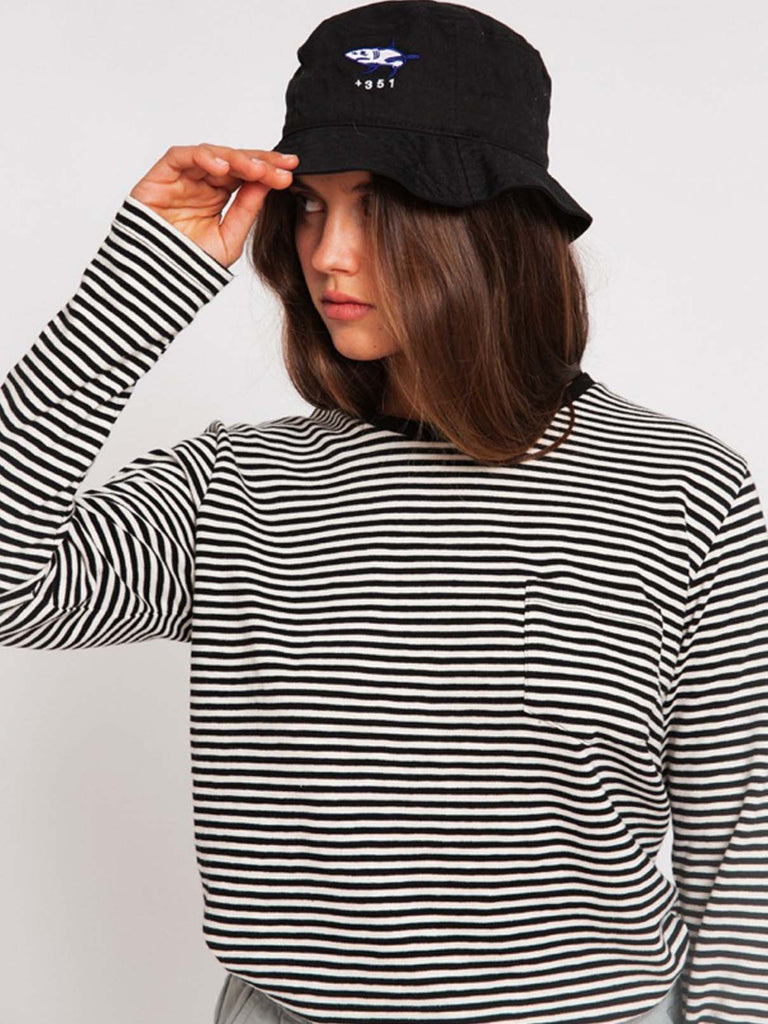 LONG SLEEVE  STRIPES BLACK & CRU