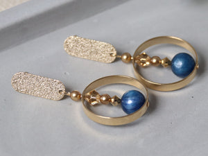 Gwen Earrings [Kyanite]