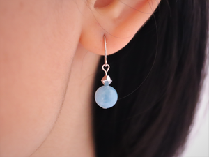 Mini Aquamarine Earrings