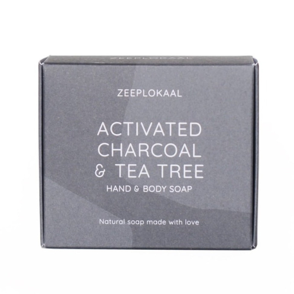 Activated charcoal & tea tree soap (XL)
