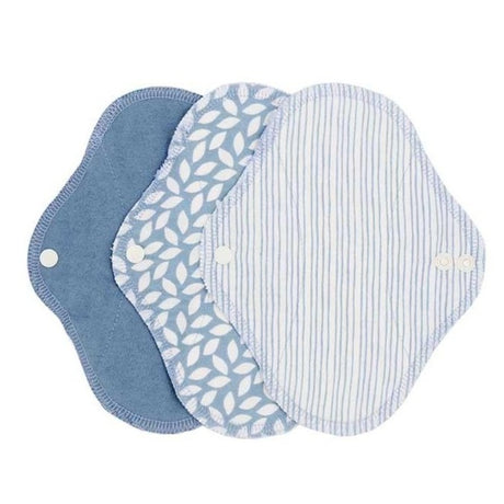 Washable panty liners/sanitary pads blue