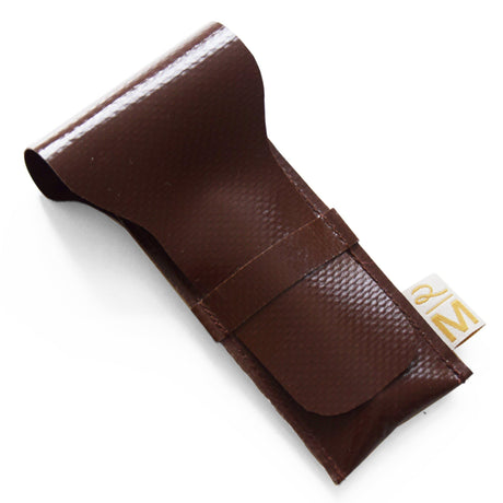 Vegan safety razor pouch brown